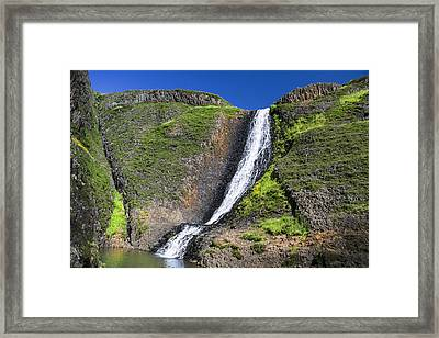 Hollow Falls At Table Mountain Framed Print