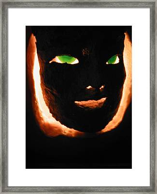 Holloween Mask Framed Print by Mark Stevenson