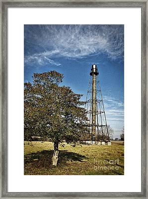 Holly Berries And Lighthouses Framed Print