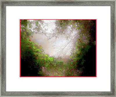 Framed Print featuring the photograph Holly Heart by Bonnie Willis