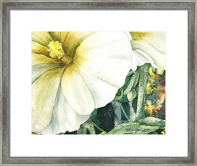 Holly Hock Framed Print