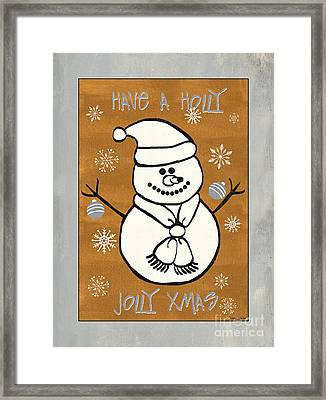 Holly Holly Xmas Framed Print