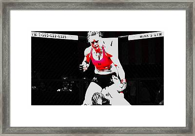 Holly Holm 6c Framed Print by Brian Reaves