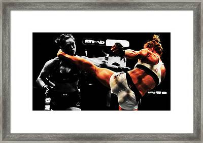 Holly Holm And Ronda Rousey 1b Framed Print by Brian Reaves