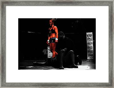 Holly Holm Another One Down Framed Print