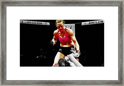 Holly Holm Framed Print by Brian Reaves