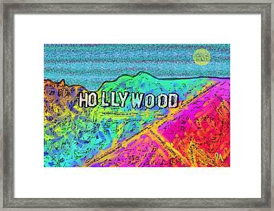 Hollycolorwood Framed Print by Jeremy Aiyadurai