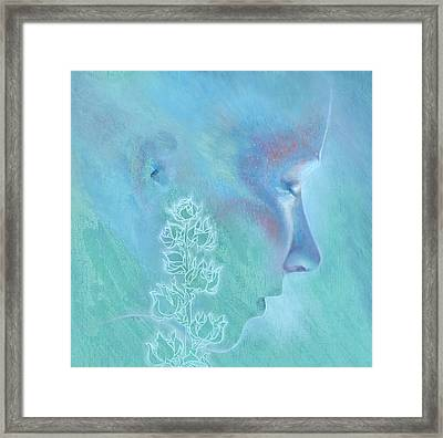 Framed Print featuring the painting Hollyhock by Ragen Mendenhall