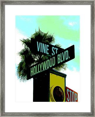 Hollywood And Vine Framed Print by Audrey Venute