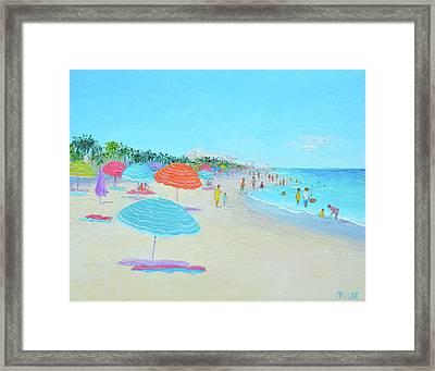 Hollywood Beach Florida Framed Print by Jan Matson