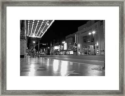 Hollywood Blvd At 3am Framed Print by Ernie Madera