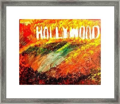 Hollywood Burning Framed Print