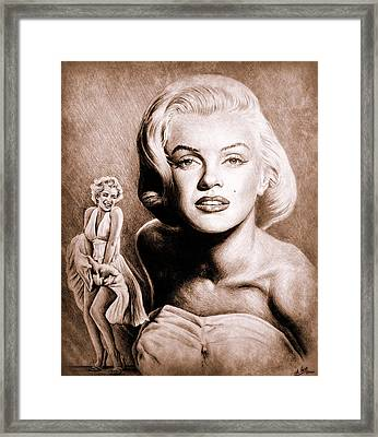 Hollywood Greats Marilyn Framed Print by Andrew Read