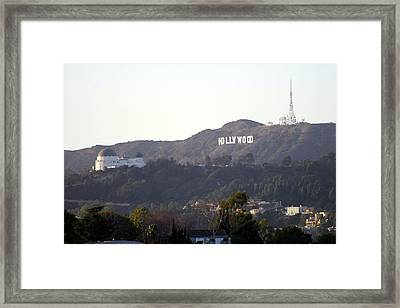 Hollywood Hills And Griffith Observatory Framed Print