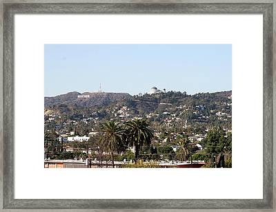 Hollywood Hills From Sunset Blvd Framed Print