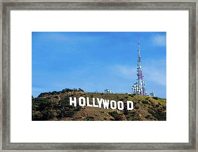 Hollywood Hills - Los Angeles California Framed Print by Gregory Ballos