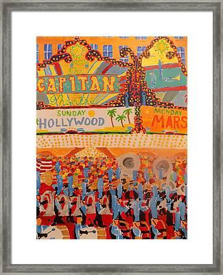 Hollywood Parade Framed Print by Rodger Ellingson