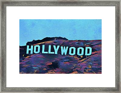 Hollywood Pop Art Sign Framed Print by Dan Sproul