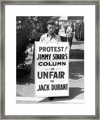 Hollywood Protest Framed Print by Underwood Archives