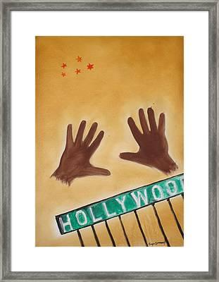 Hollywood Framed Print by Roger Cummiskey