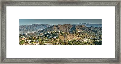 Hollywood Secret Path To The Hollywood Sign Framed Print by David Zanzinger