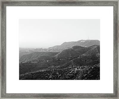 Hollywood Sign Framed Print by Ariane Moshayedi
