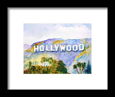 Hollywood Framed Prints