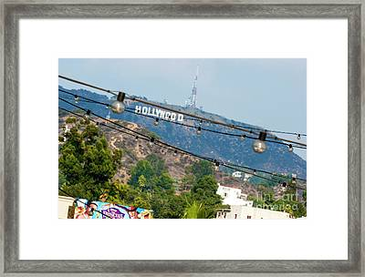 Framed Print featuring the photograph Hollywood Sign On The Hill 1 by Micah May