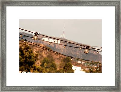Framed Print featuring the photograph Hollywood Sign On The Hill 2 by Micah May