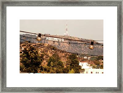 Framed Print featuring the photograph Hollywood Sign On The Hill 3 by Micah May