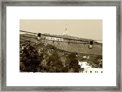 Framed Print featuring the photograph Hollywood Sign On The Hill 4 by Micah May