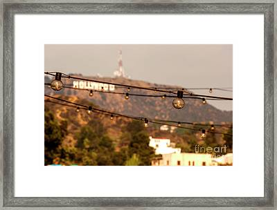 Framed Print featuring the photograph Hollywood Sign On The Hill 5 by Micah May