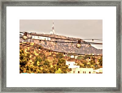 Framed Print featuring the photograph Hollywood Sign On The Hill 6 by Micah May