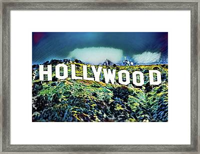 Hollywood Sign Framed Print by Russ Harris