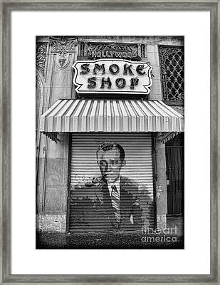 Hollywood Smoke Shop Framed Print