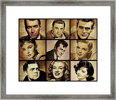 Hollywood Stars Framed Print by Esoterica Art Agency
