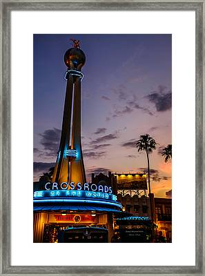 Hollywood Studios Sunset Framed Print