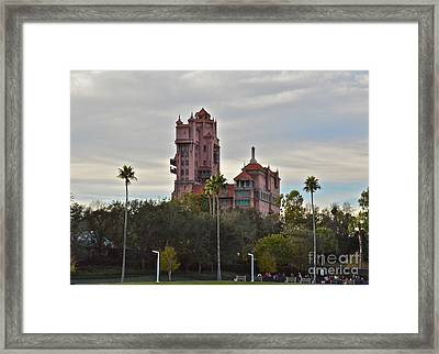 Hollywood Studios Tower Of Terror Framed Print