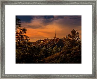 Hollywood Sunset Framed Print