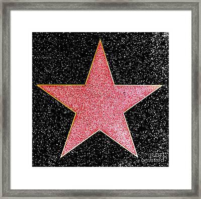 Hollywood Walk Of Fame Star Framed Print