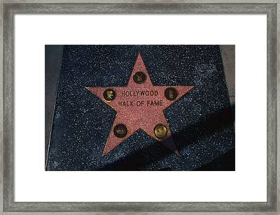 Hollywood Walk Of Fame Star Los Angeles Framed Print by Panoramic Images