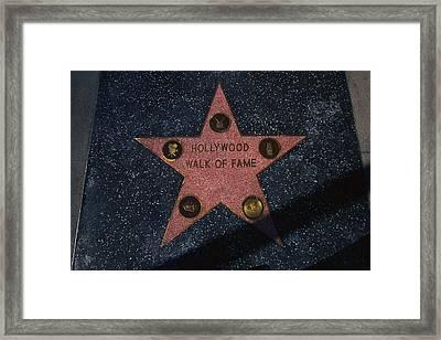 Hollywood Walk Of Fame Star Los Angeles Framed Print