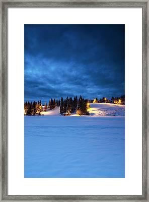 Holmenkollen Blue Framed Print