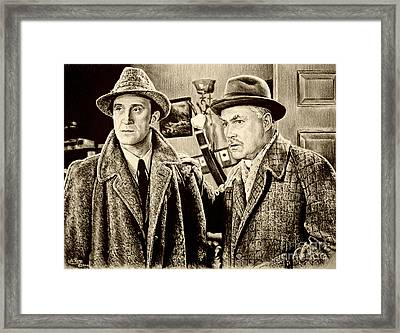 Holmes And Watson Sepia Framed Print by Andrew Read