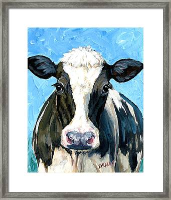 Holstein Cow 1 Head And Chest Framed Print