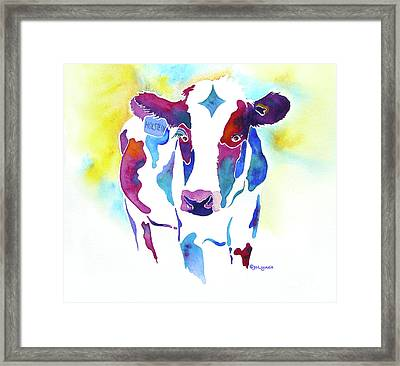Holstein  Framed Print by Jo Lynch