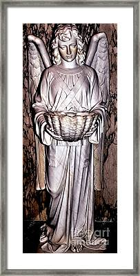 Holy Angel In Pink Framed Print by Kathleen Struckle