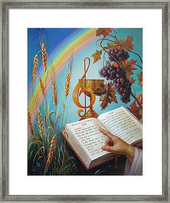Framed Print featuring the painting Holy Bible - The Gospel According To John by Svitozar Nenyuk
