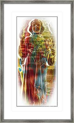 Holy Child Statue Framed Print by Kathleen Struckle