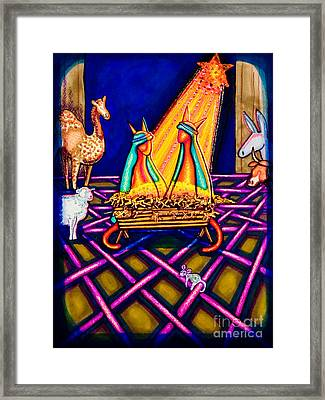 Holy Christmas Kats Framed Print by Laurie Tietjen